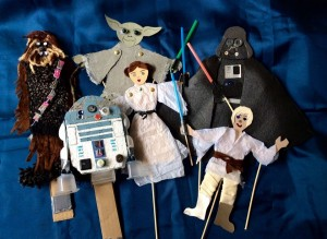 Remade Scotland: Star Wars stick puppets
