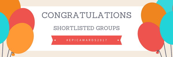 Congratulations Epic Awards 2017 shortlist