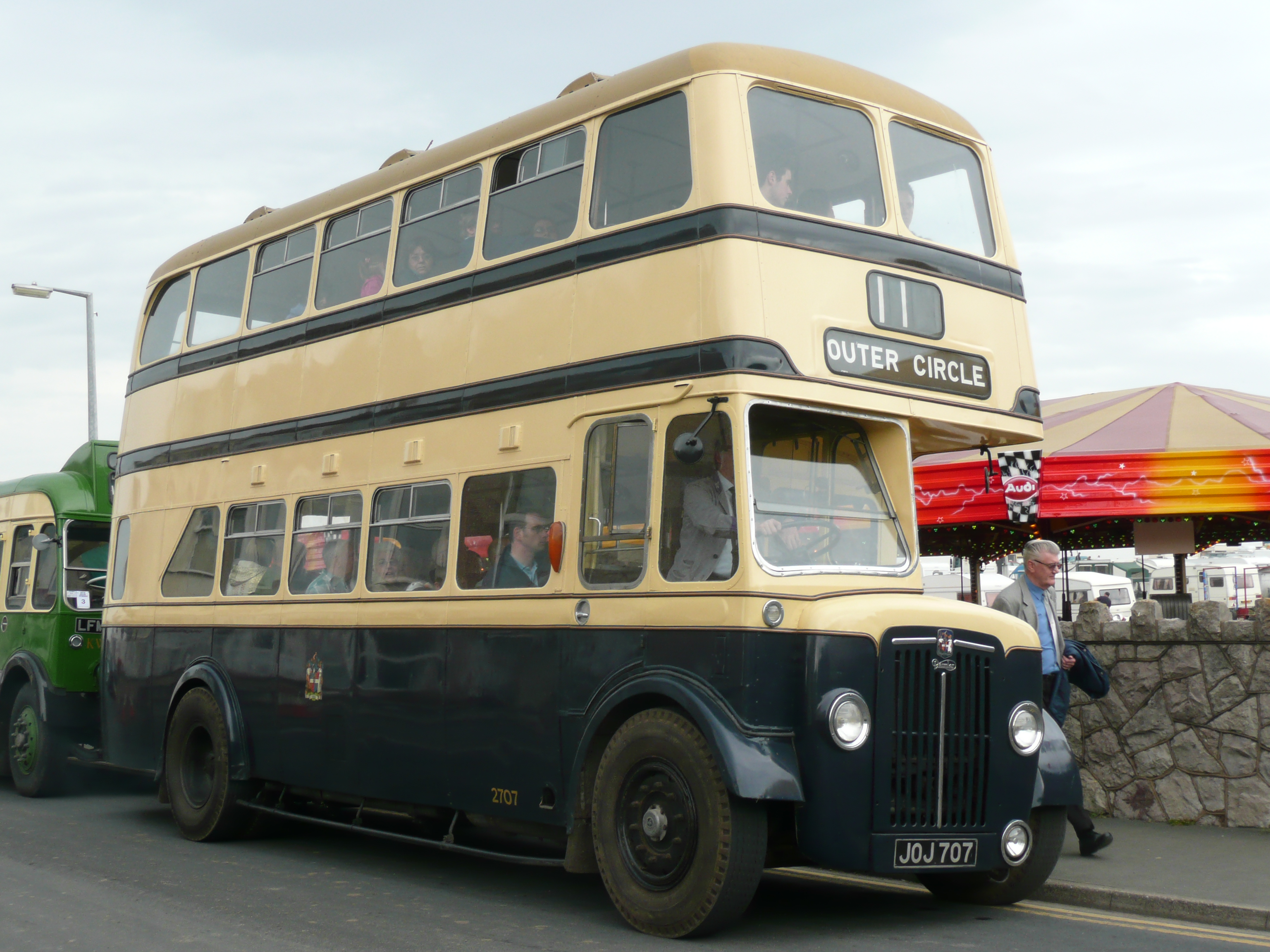 Old No. 11 bus in Birmingham