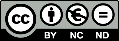 Creative Commons license - CC BY-NC-ND 4.0