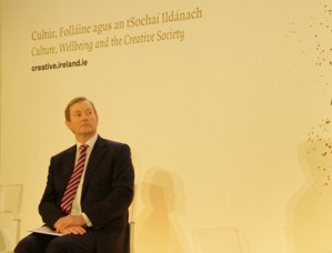 An Taoiseach Enda Kenny TD at the Creative Ireland launch