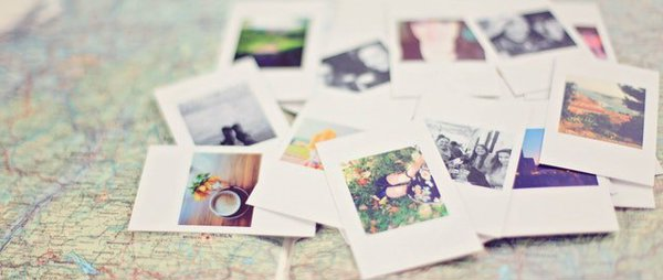 Polaroids on a map
