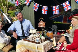 40s weekend at Castle Bromwich Hall Gardens