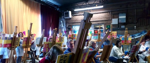 Bob Ross-along event at Myriad Studios in Penrith, part of the Get Creative Festival 2019