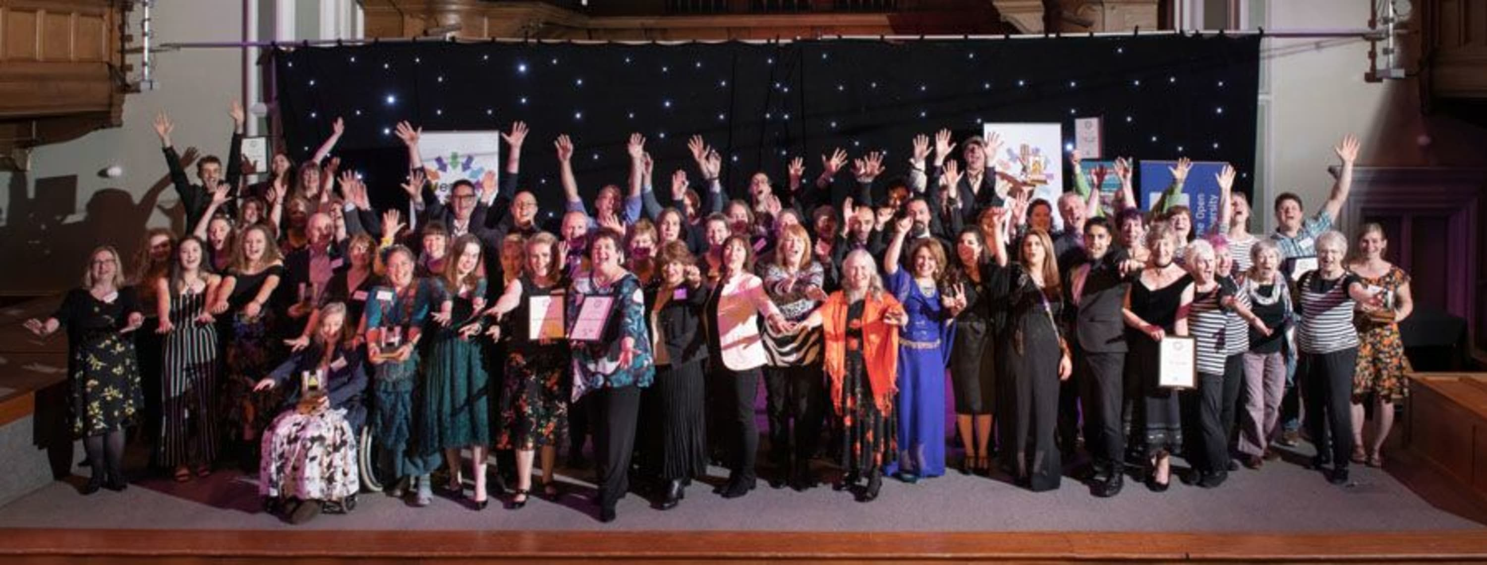 Epic Awards 2019 ceremony - group photo banner